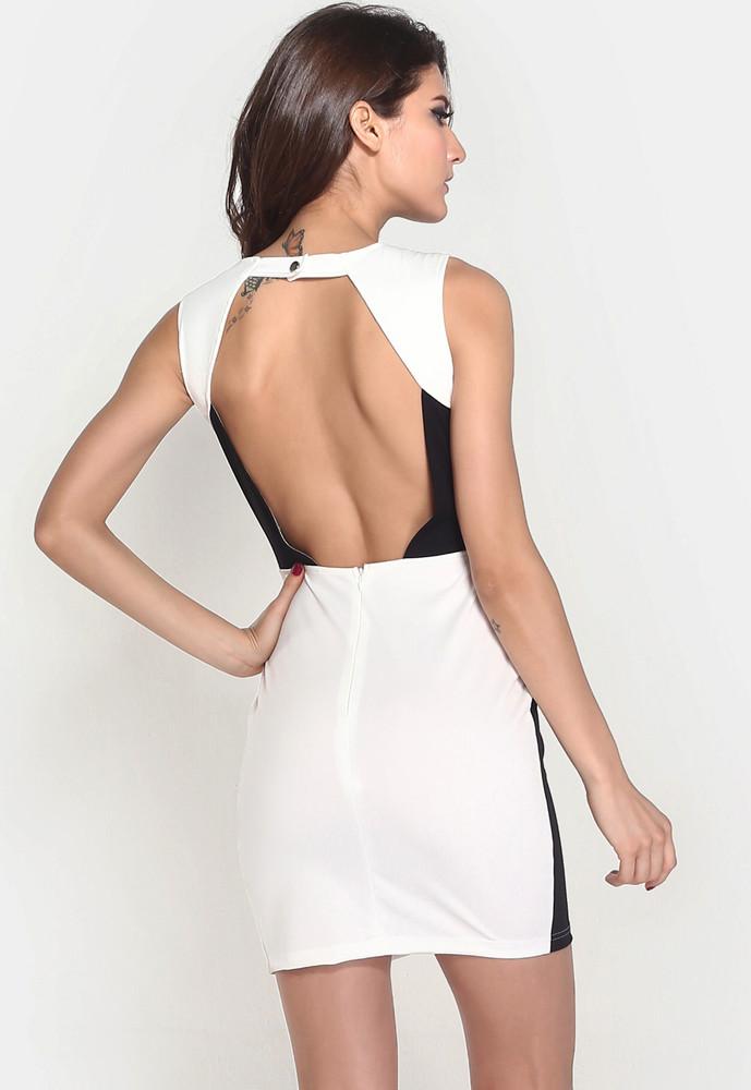 242e3a60f6c0 Dámské šaty Black   White Damson d-sat422 - oblečení textil