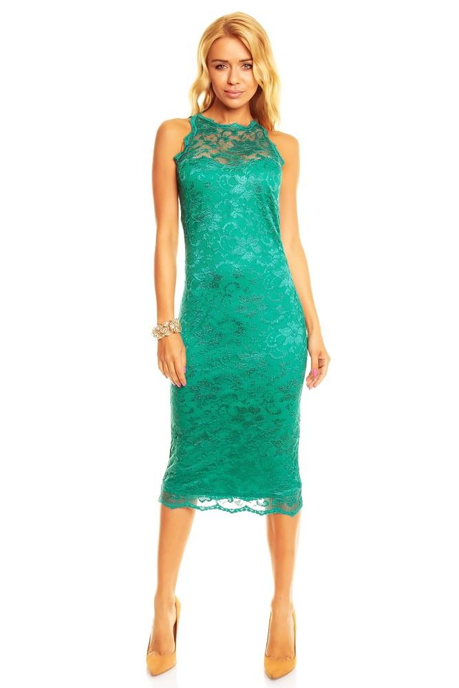 Купить Кружевное Зеленое Платье
