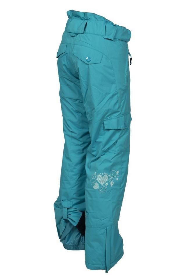 1e9fbb041088 Dívčí lyžařské zateplené kalhoty O´STYLE tyrkysové - oblečení textil