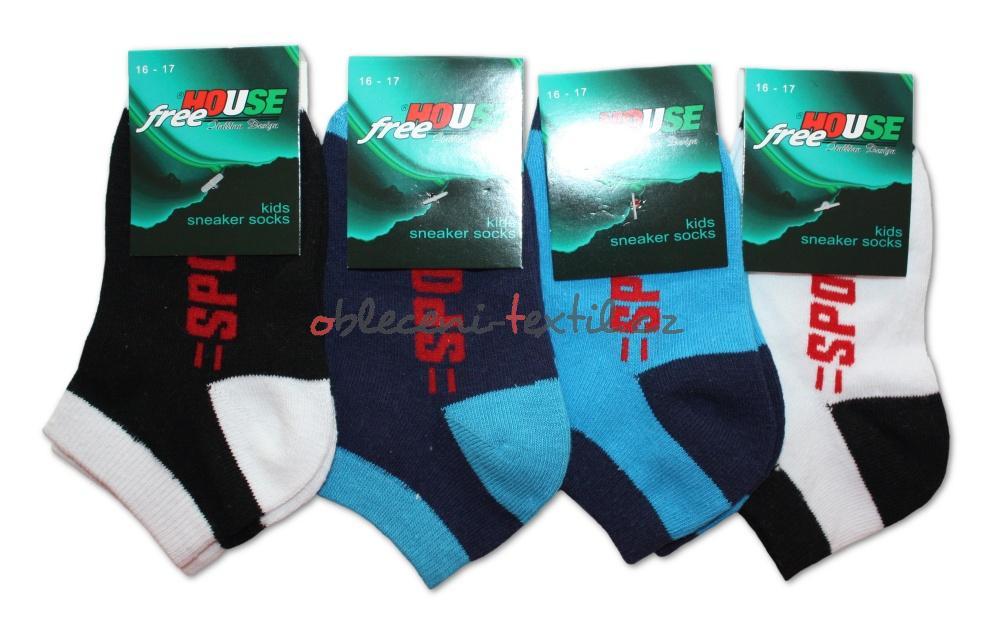 Chlapecké nižší ponožky Novia N07 - Sport - 3 páry v balení ... 2a2a4e0413