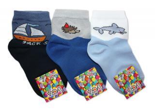 Chlapecké ponožky Novia s motivem zvířátek - 3 páry v balení