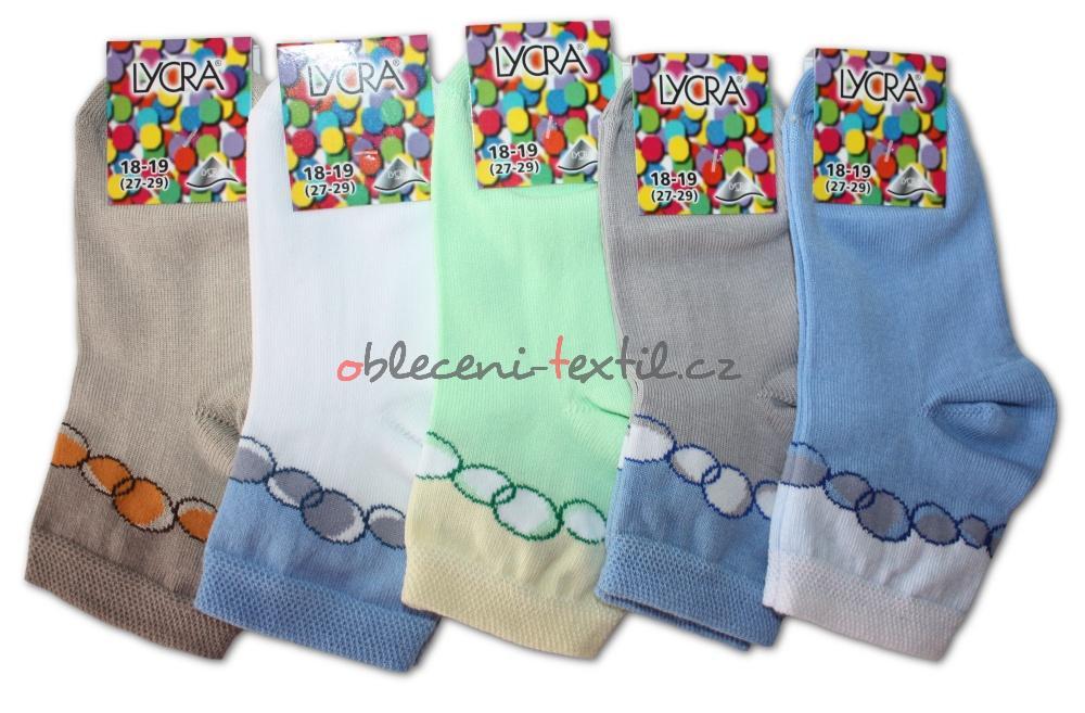 Chlapecké ponožky s lycrou Novia - bubliny světlé - 3 páry v balení ... 3c65f6a7f1