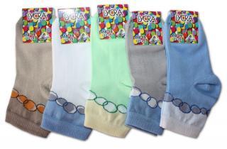 Chlapecké ponožky s lycrou Novia - bubliny světlé - 3 páry v balení