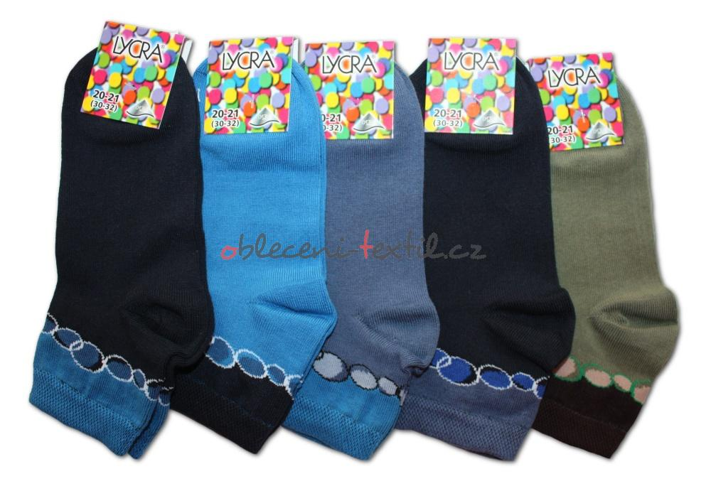Chlapecké ponožky s lycrou Novia - bubliny tmavé - 3 páry v balení ... 189a931ed1