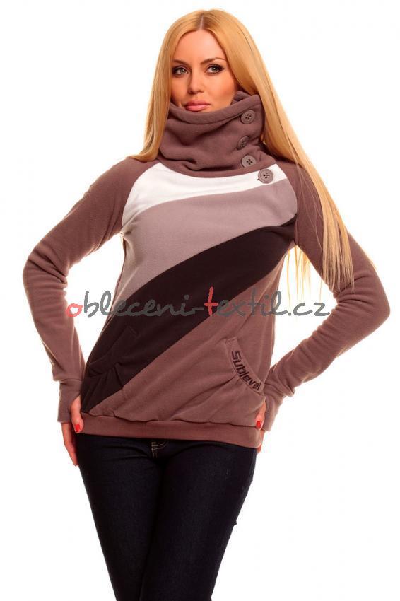 Dámská fleece mikina Queen o.f. HS-FL036hn - oblečení textil 5751bdaaef