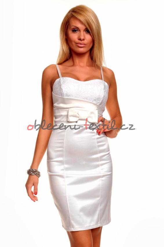 b423267b1cf5 Dámské bílé koktejlové šaty Queen o.f. Hs-sa131wh - oblečení textil
