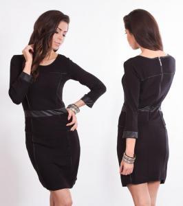 Dámské černé šaty Fashion h. k0475