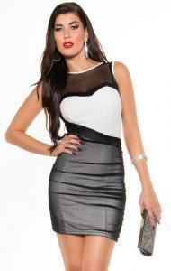 Dámské šaty Koucla bílo-černé in-sat187wh