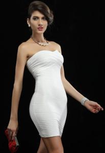 Dámské zeštíhlující šaty Damson d-sat396wh
