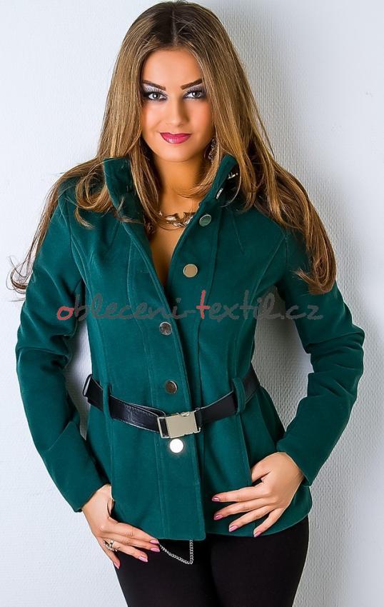 Dámský krátký kabát y-bu017ze - oblečení textil d34aabd5ac