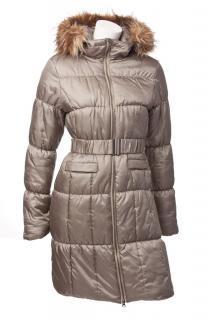 Dámský vyteplený kabát O´Style 6299 zlatý