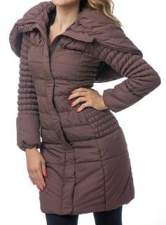 Dámský zateplený kabát O´Style 6437 hnědý