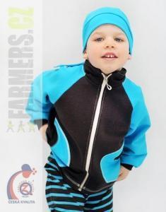 Dětská mikina na zip CHOCO Farmers tyrkys