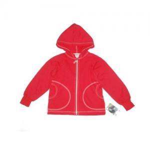 Dětská mikina na zip s kapucí Farmers červená