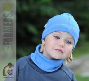 Dětská modrá čepice Farmers EARTH