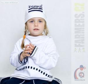 Dětská oboustranná mikina NAVY Farmers bílá