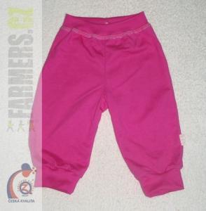 Dětské 3/4 kalhoty do manžety RAINBOW Farmers cyklamové