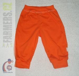 Dětské 3/4 kalhoty do manžety SUNNY Farmers oranžové