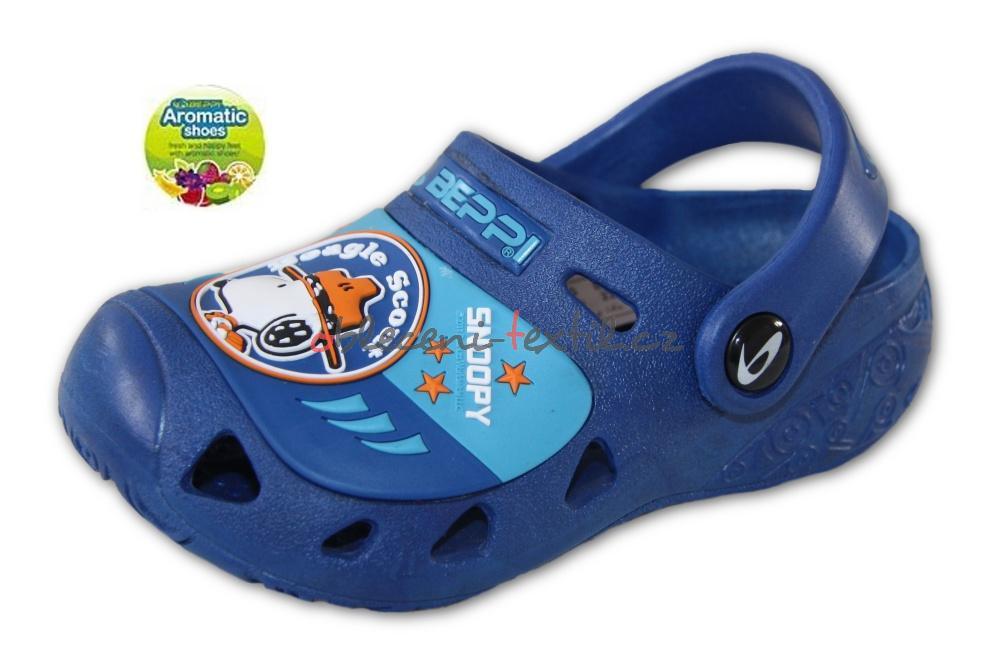 f3404daada8 Dětské boty Clogs Beppi SNOOPY 2113780 - modrá - oblečení textil