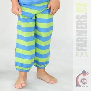 Dětské kalhoty do paspule Farmers EARTH pruhované