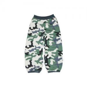 Dětské kalhoty do paspule Farmers MASK khaki-natur
