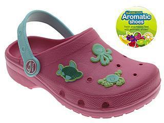 Dětské plážové boty Clogs Beppi s vůní a ozdůkami - růžová - DOPRODEJ