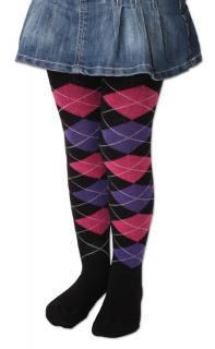 Dětské punčocháče Design Socks s vůní - černé káro