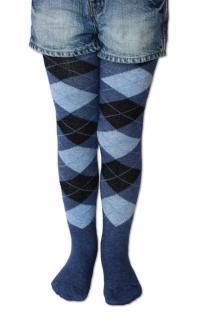 Dětské punčocháče Design Socks s vůní - džínové káro