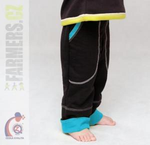 Dětské rostoucí kalhoty BRAUN Farmers tyrkys