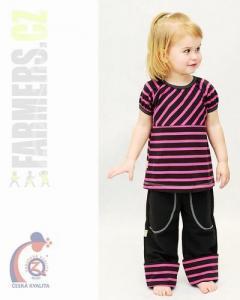 Dětské rostoucí kalhoty CHOCO Farmers cyklam
