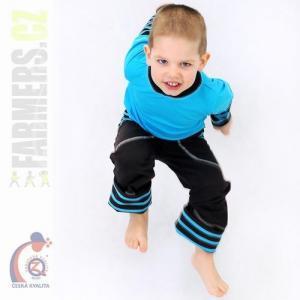 Dětské rostoucí kalhoty Farmers CHOCO tyrkys