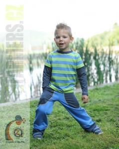 Dětské rostoucí kalhoty Farmers EARTH modrošedé