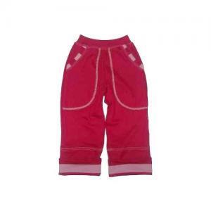 Dětské rostoucí kalhoty LOLLA Farmers červené malin