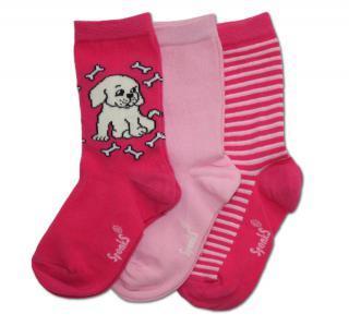 Dětské růžové ponožky SPONKS - 3 páry v balení