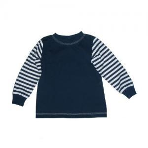 Dětské tričko dl. rukáv NAVY Farmers NAVY/pruhované rukávy