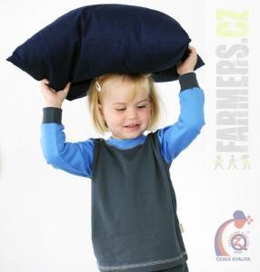 Dětské tričko dl. rukáv s manžetou EARTH Farmers šedé/modré