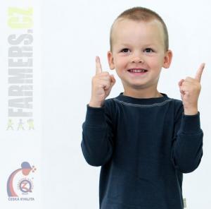Dětské tričko dl. rukáv s manžetou EARTH Farmers šedé
