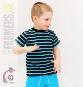Dětské tričko kr. rukáv Farmers CHOCO tyrkys