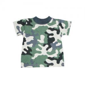Dětské tričko kr. rukáv Farmers MASK khaki-natur