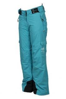 Dívčí lyžařské zateplené kalhoty O´STYLE tyrkysové