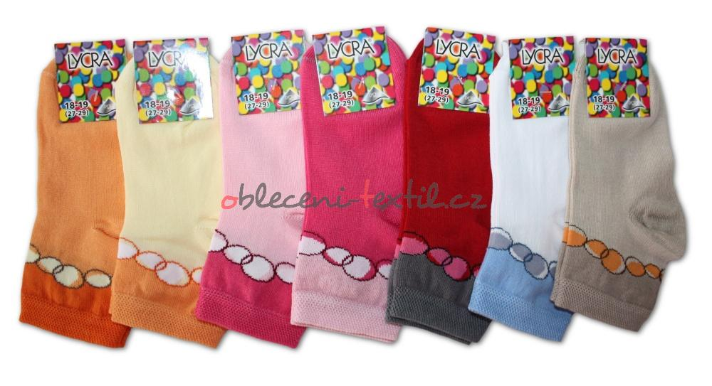Dívčí ponožky s lycrou Novia - bubliny - 3 páry v balení - oblečení ... 4097c58836