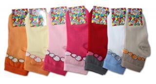 Dívčí ponožky s lycrou Novia - bubliny - 3 páry v balení