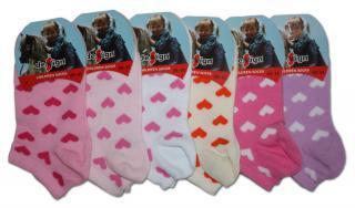 Dívčí srdíčkové kotníkové ponožky Design Socks - 3 páry v balení