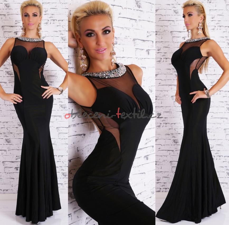 Dámské šaty černé EU st-sa150bl 091577e279