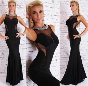 Dámské šaty černé EU st-sa150bl