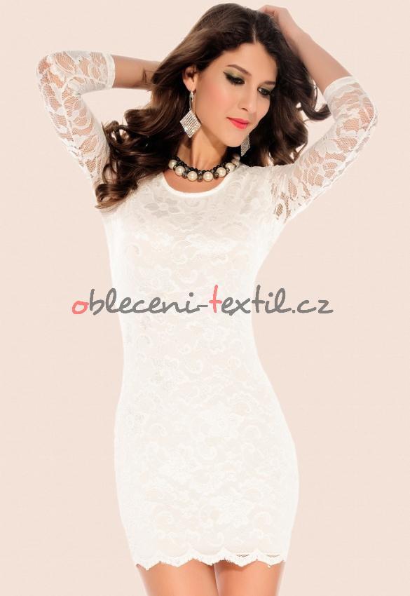 73e2cf1c87ce Dámské bílé šaty Damson d-sat097wh - oblečení textil