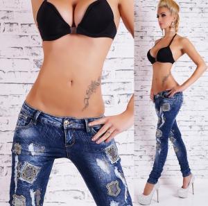 Dámské džíny EU st-ri266