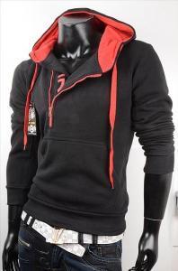Pánská mikina černá EU p-mi017bl