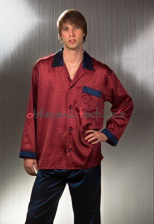 cc7ab63bd0f0 Pánské saténové pyžamo Cedrik - oblečení textil