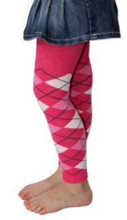Punčochové legíny Design Socks s vůní - káro